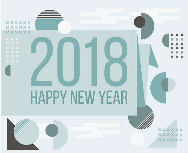 flat design new year card