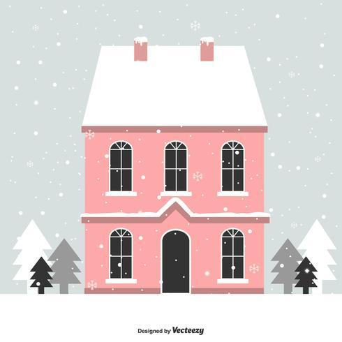 casa nel vettore di inverno