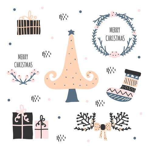 Hand Drawn Holidays Vector Set