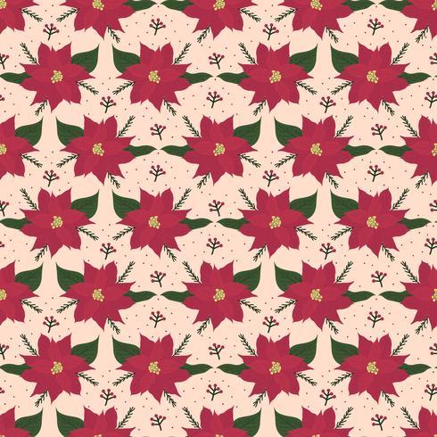 Poinsettia Vector Pattern