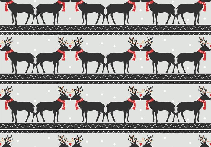Romantic Deer Vector Pattern