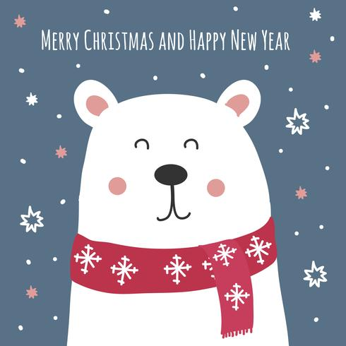 Christmas Card Vector Background