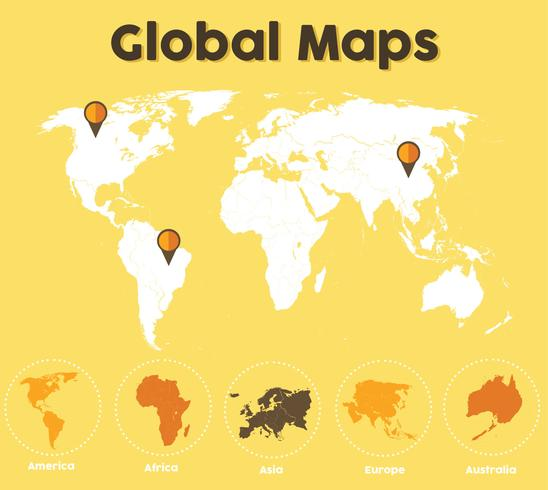 Global Maps Vector Pack