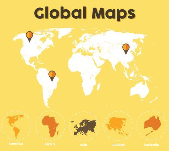 Pack de cartes Global Maps