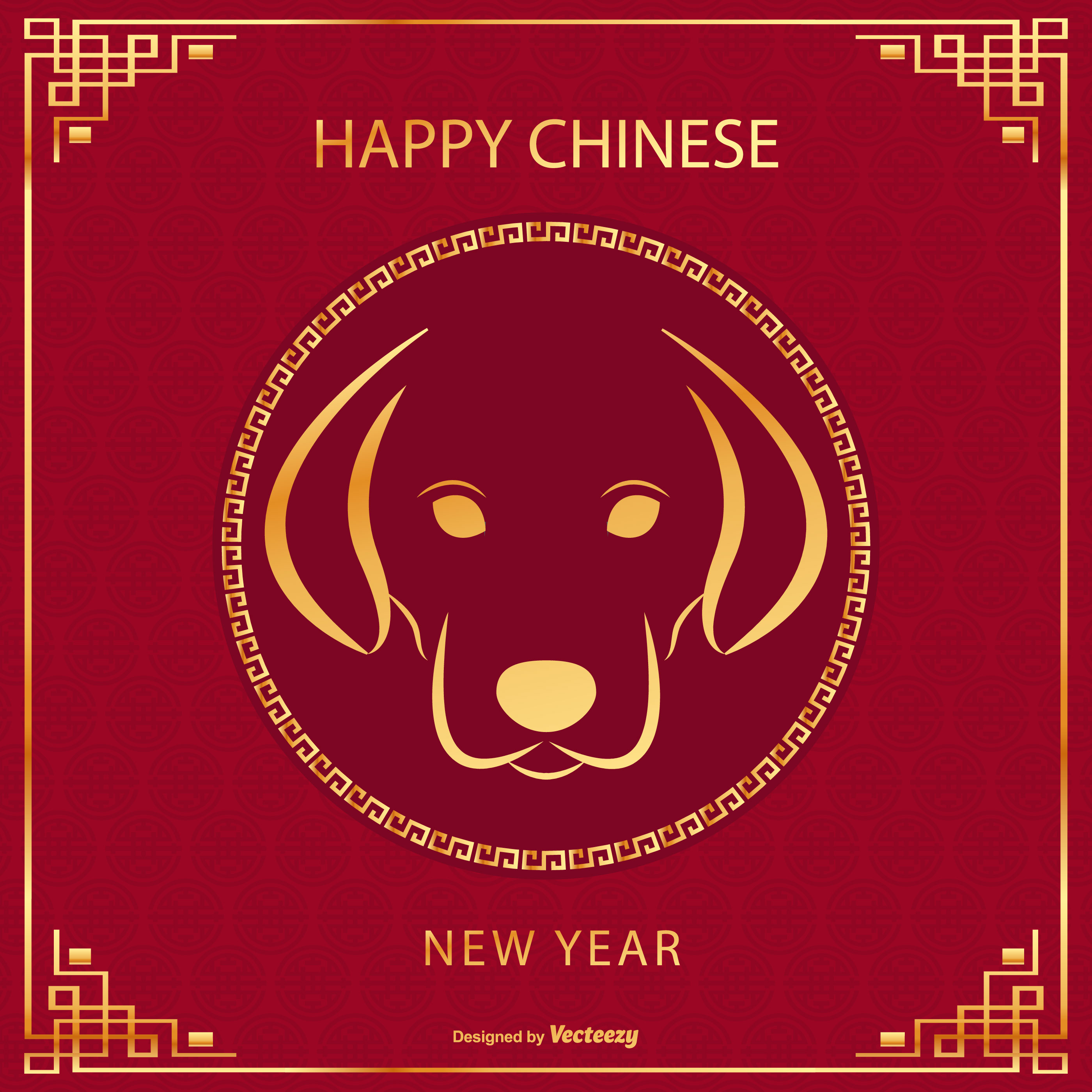 Chinese New Year Of The Dog 2018 Download Free Vector Art Stock