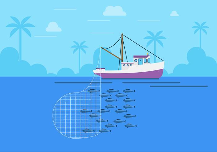 Flat Trawler Vector Design