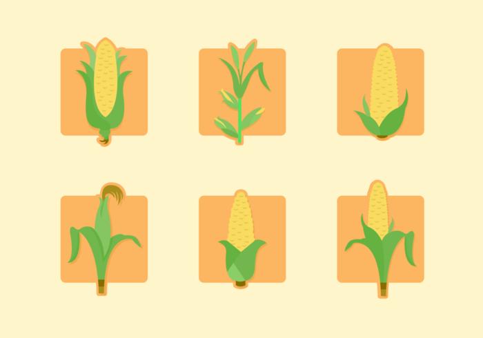 Pack de vecteur gratuit Staltks de maïs