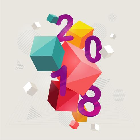 platt nytt år illustration