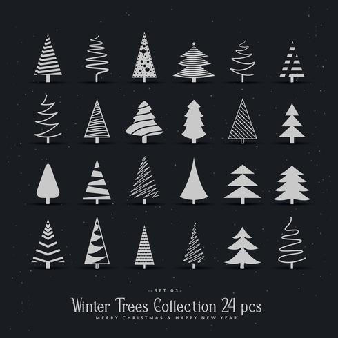 20 different christmas tree design set