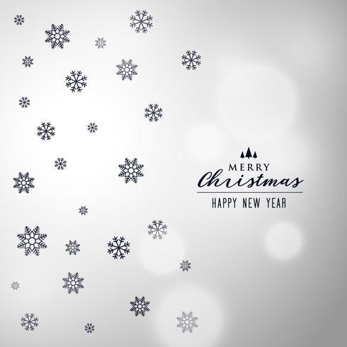 elegant jul snöflingor bakgrundsdesign