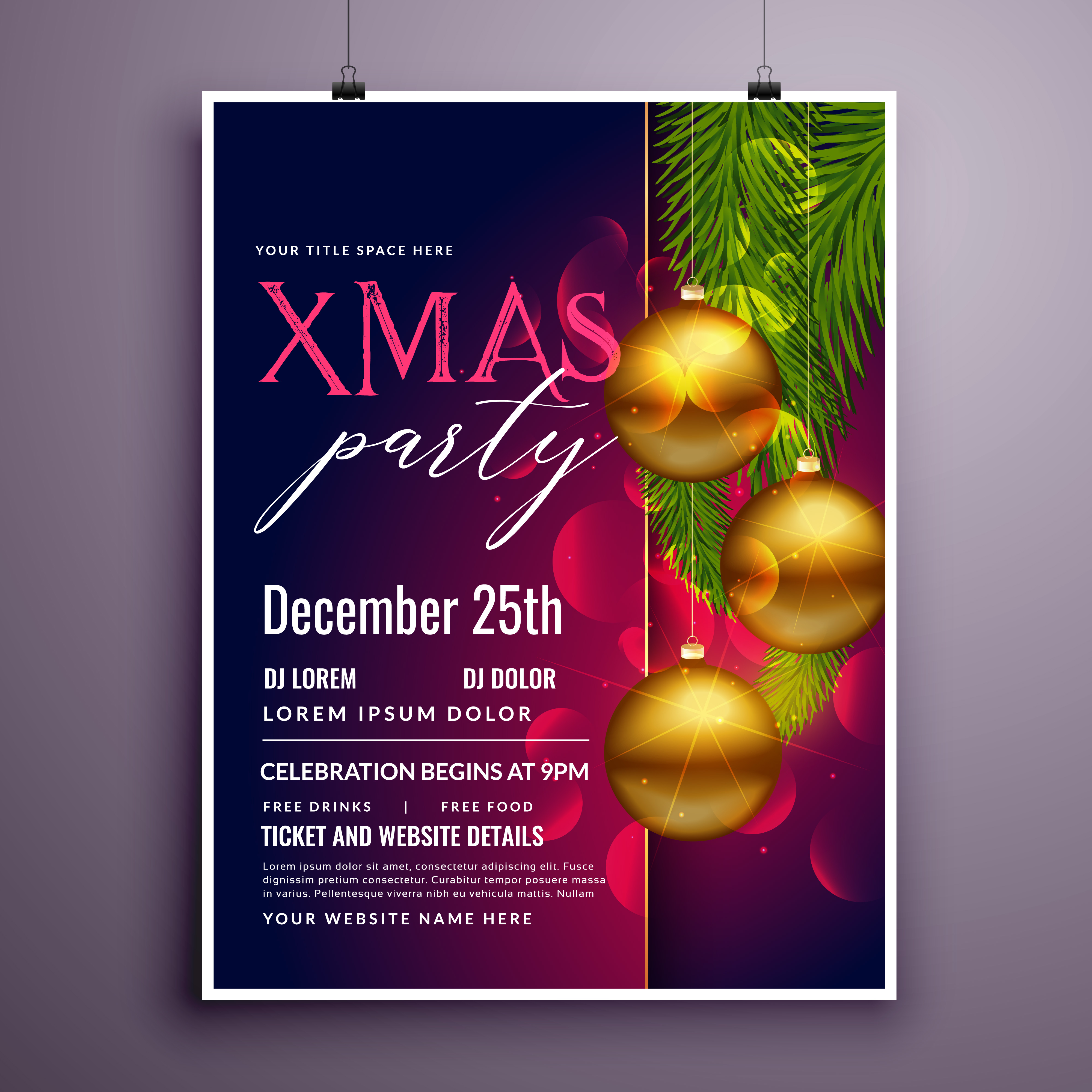 Christmas Poster Free Vector Art 14626 Free Downloads