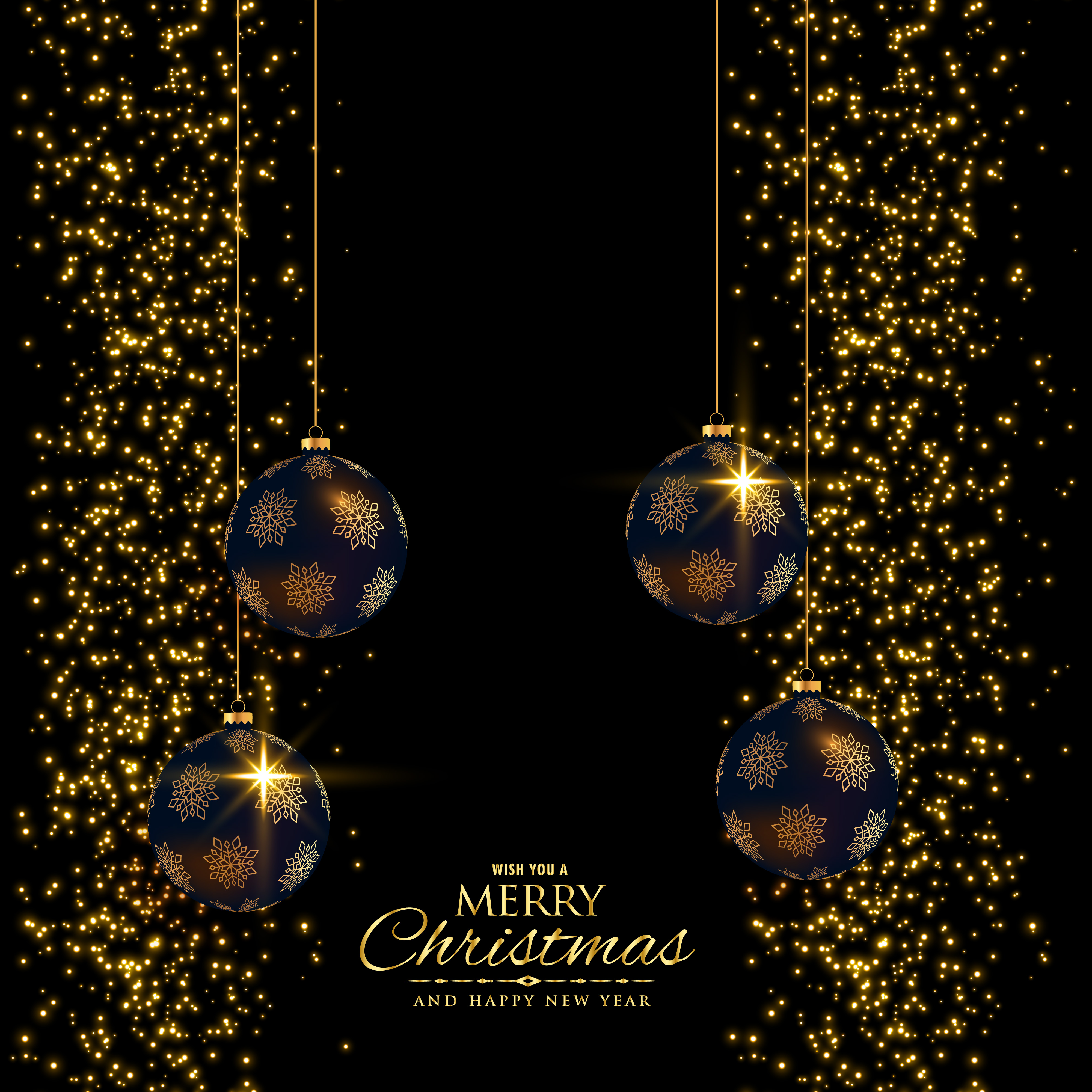 Premium Christmas Holiday Background With Glitter