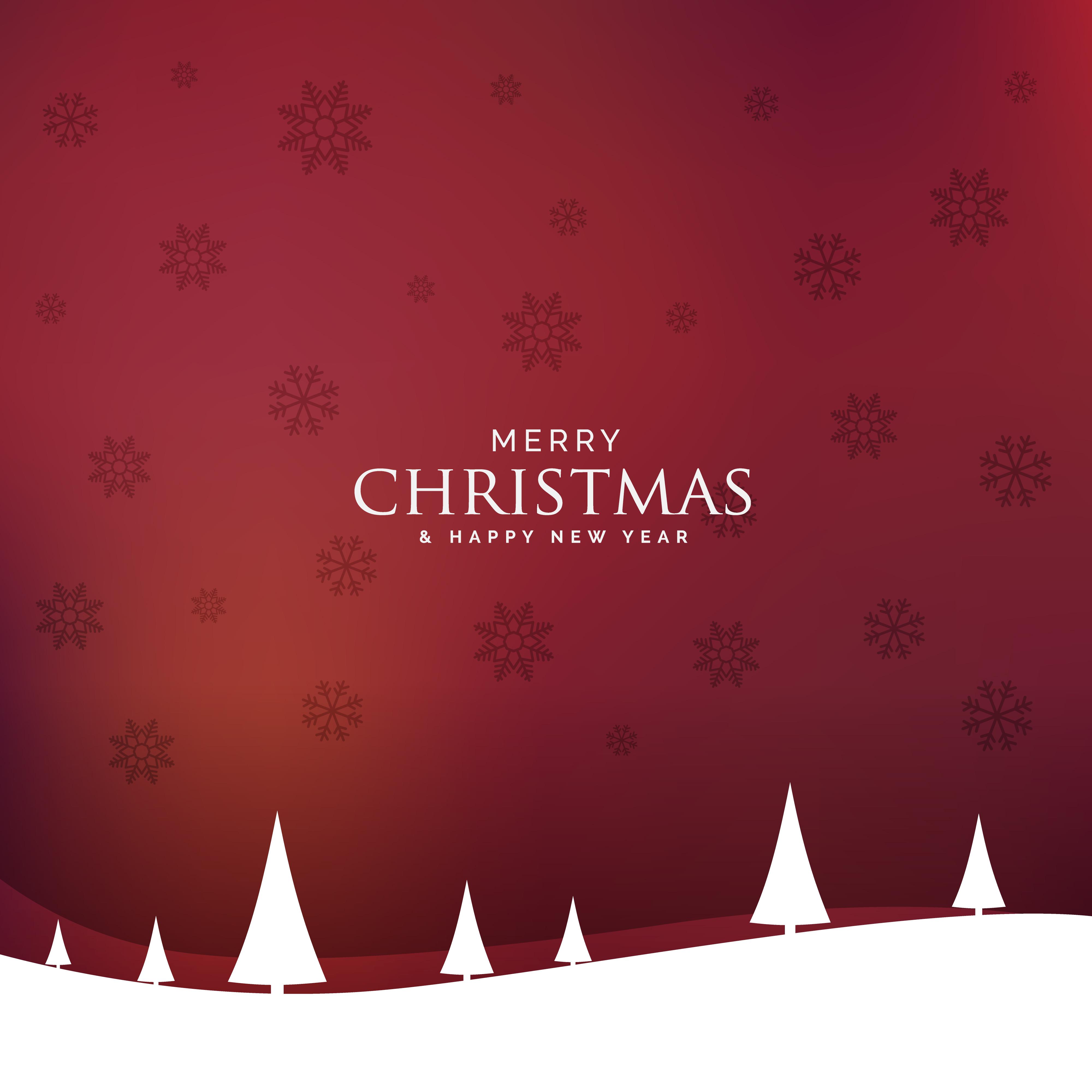 Minimal christmas landscape design design with tree for Minimal art vector