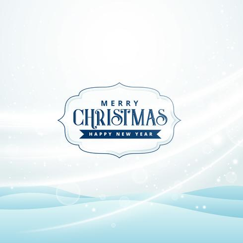 seasonal merry christmas greeting with snow and flowing air