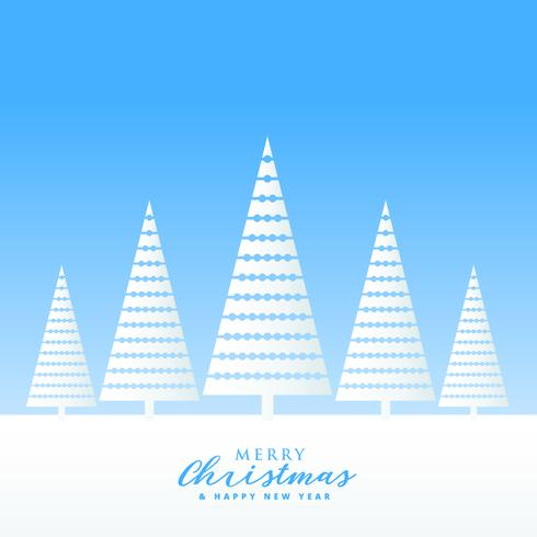 elegant christmas greeting design for winter season