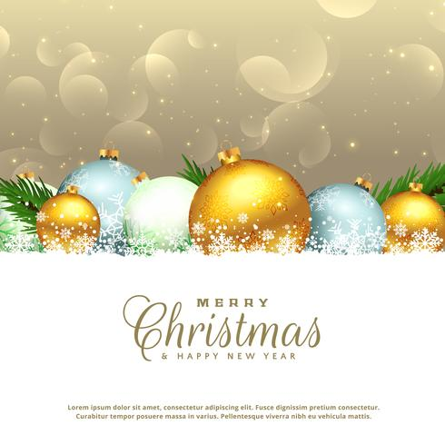 christmas seasonal background with decorative elements