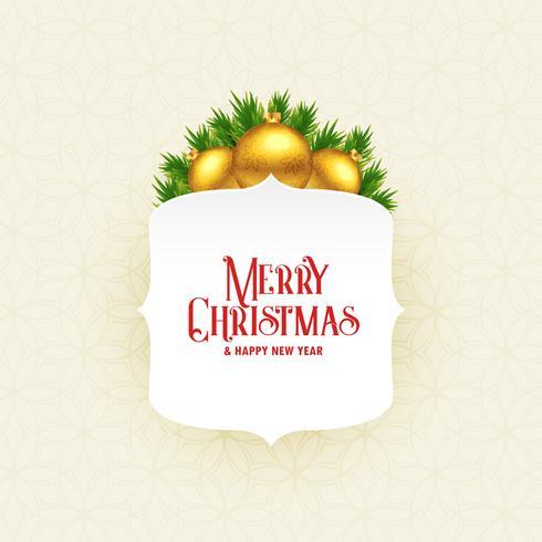 merry christmas seasonal greeting design illustration