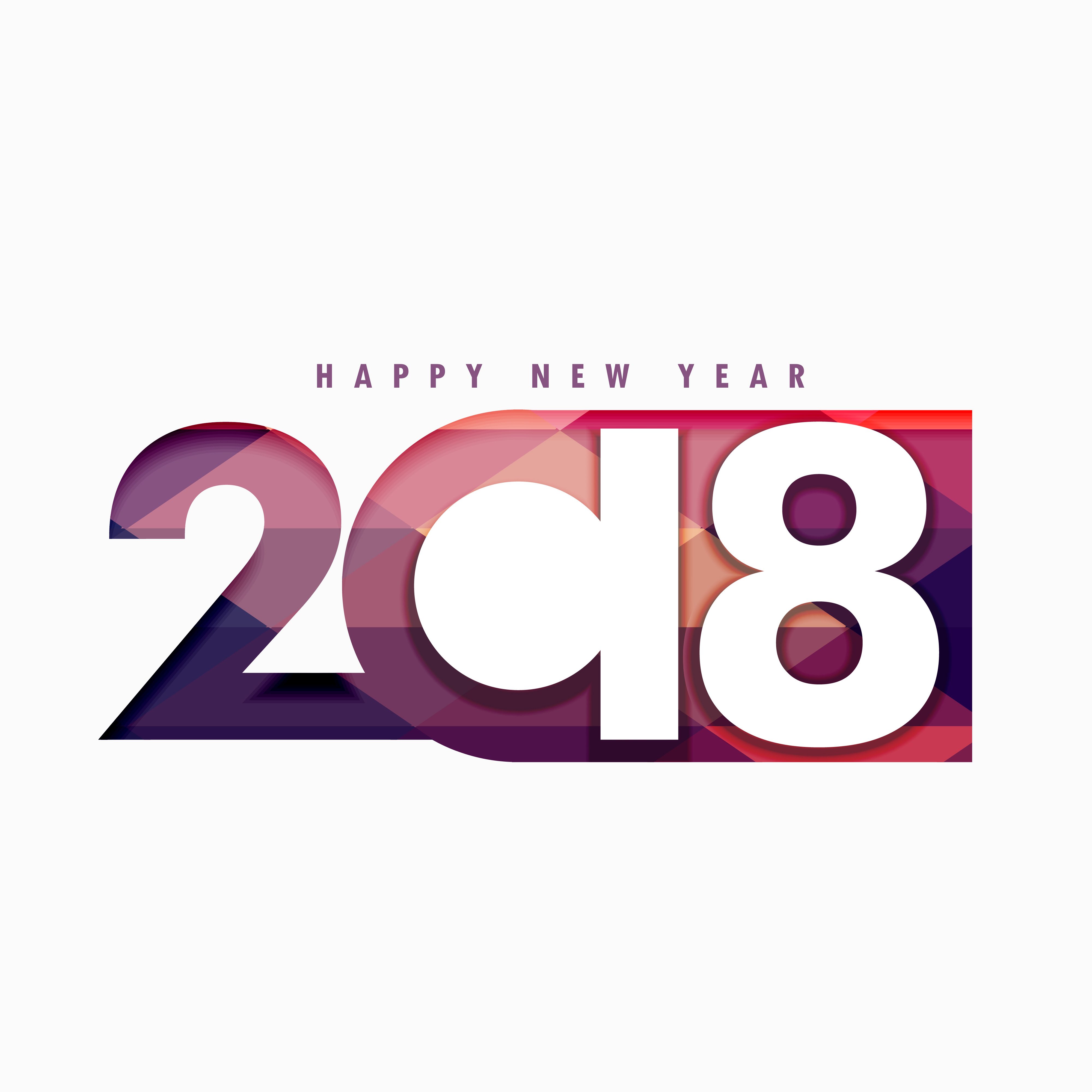 happy new year 2018 text in creative style download free vector art stock graphics images