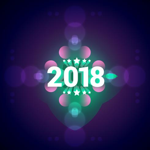 elegant 2018 happy new year colorful background