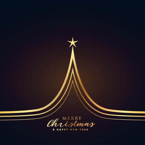 creative golden christmas tree design premium illustration