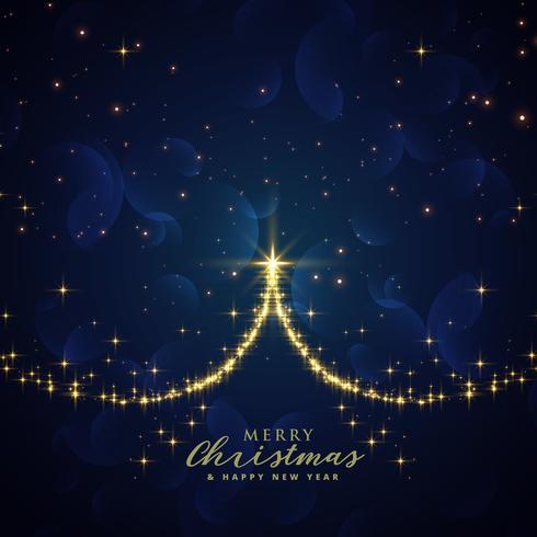 vacker gnista julgran vektor bakgrund