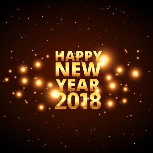 bonne année 2018 design de cartes avec des étincelles brillantes