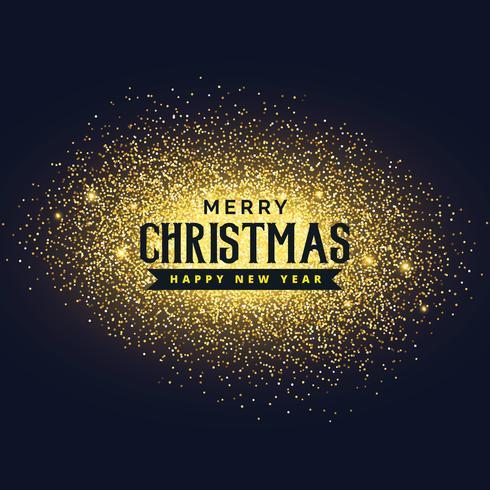 merry christmas glitter background design