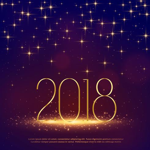 2018 glitter background with sparkles for happy new year