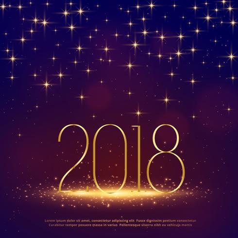 2018 glitter bakgrund med gnistrar för gott nytt år