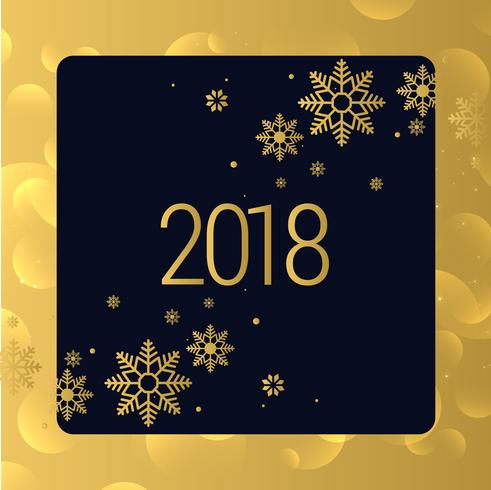 luxury golden 2018 new year background design
