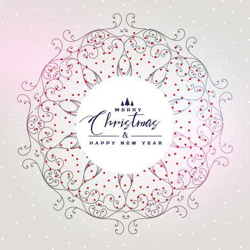 beautiful christmas background with mandala decoration
