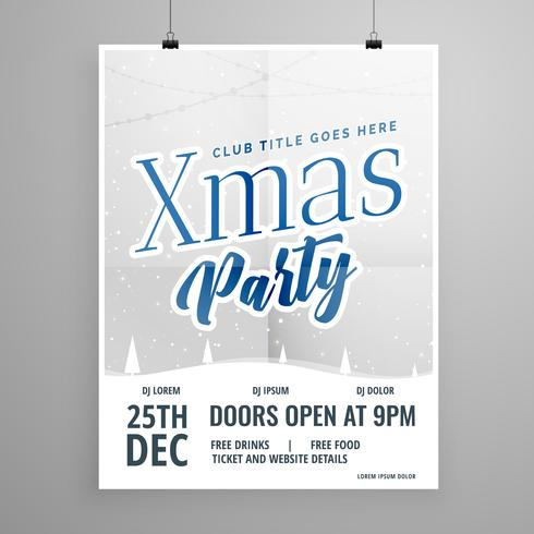 template flyer design for christmas party