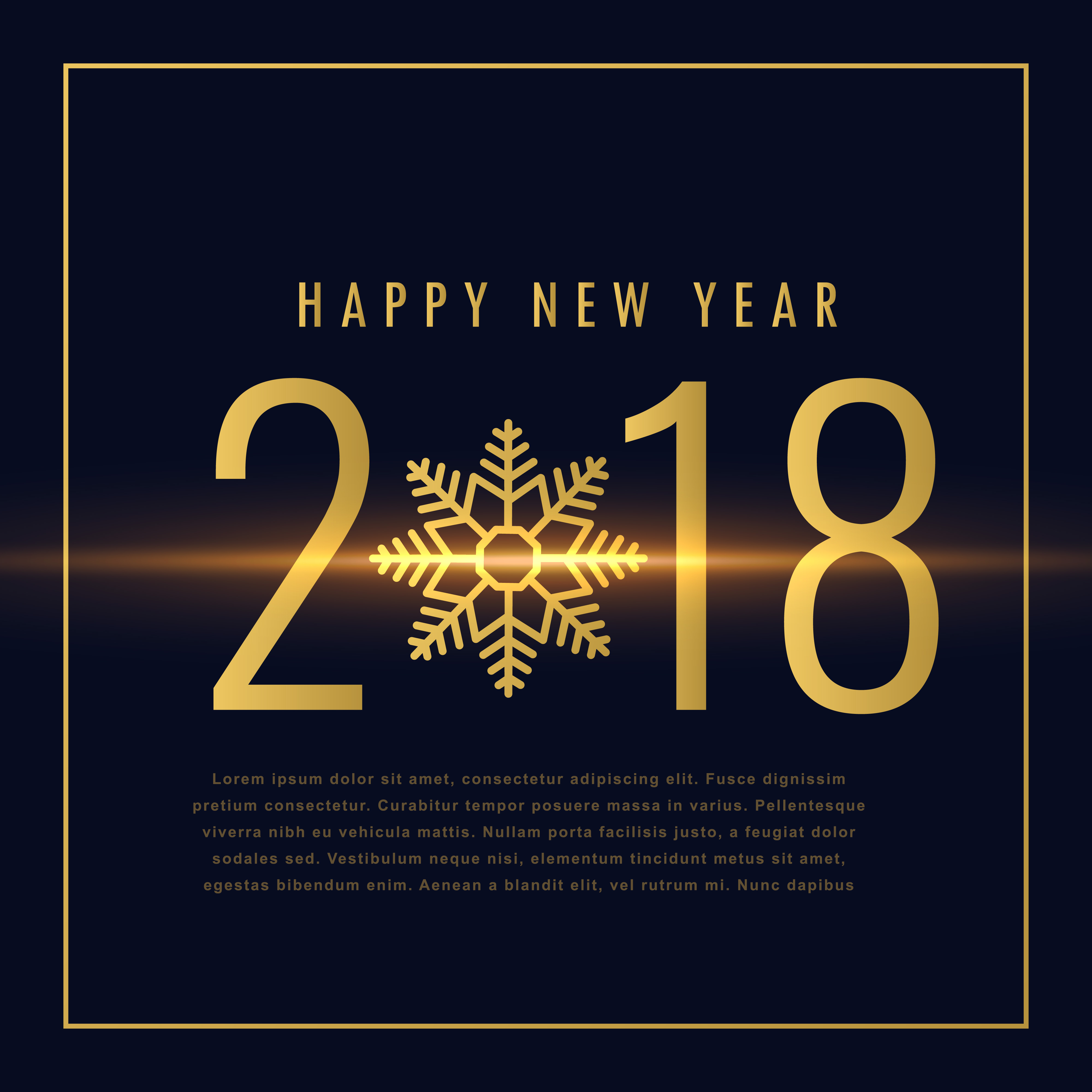 happy new year 2018 text written in golden style download free vector art stock graphics images