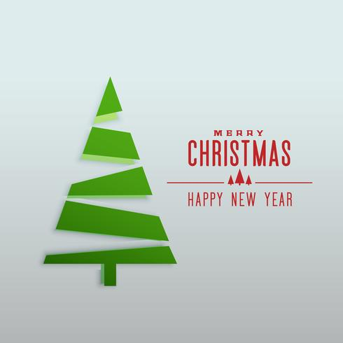 minimal style chstrimas tree design greeting