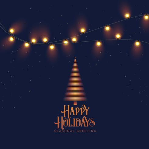 beautiful vintage happy holidays background with light effect an
