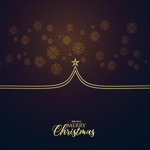 minimal premium christmas greeting design with tree