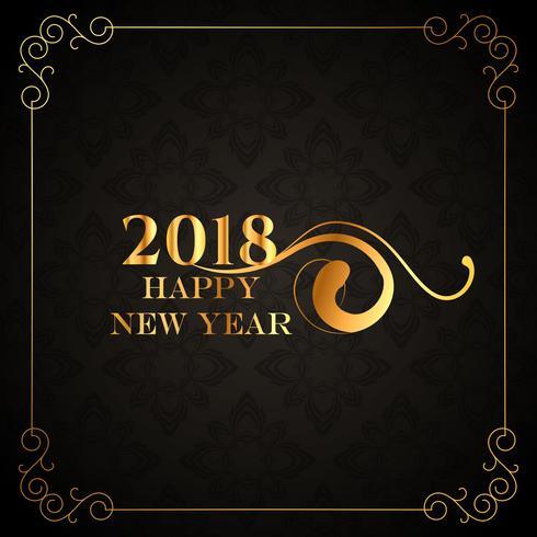 luxe stijl 2018 Gelukkig Nieuwjaar gouden achtergrondontwerp