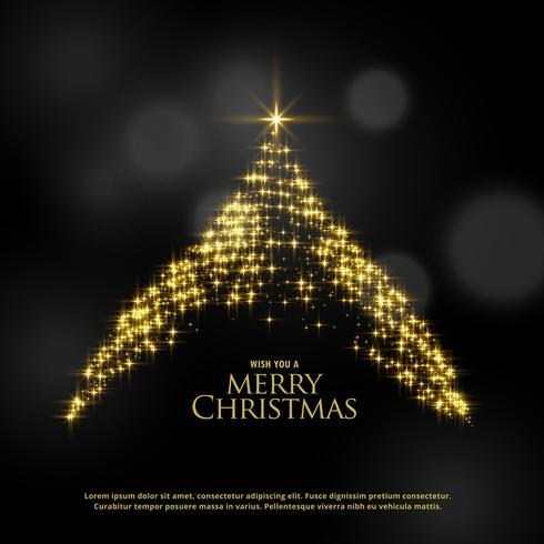 beautiful sparkle glitter christmas tree design on dark backgrou