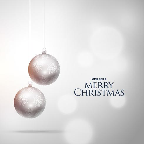 clean christmas decoration ball on white background