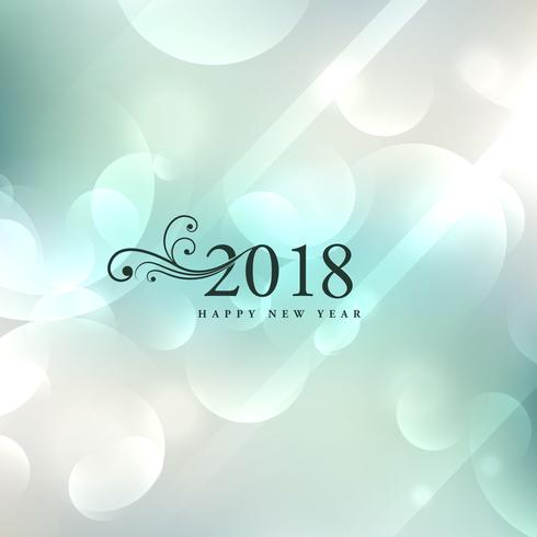 elegant 2018 new year background design