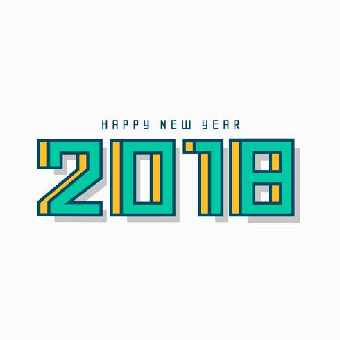 creative geometric 2018 greeting design background