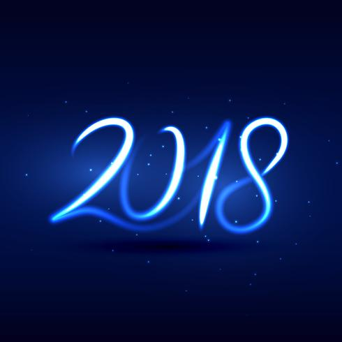 neon style 2018 new year lettering design