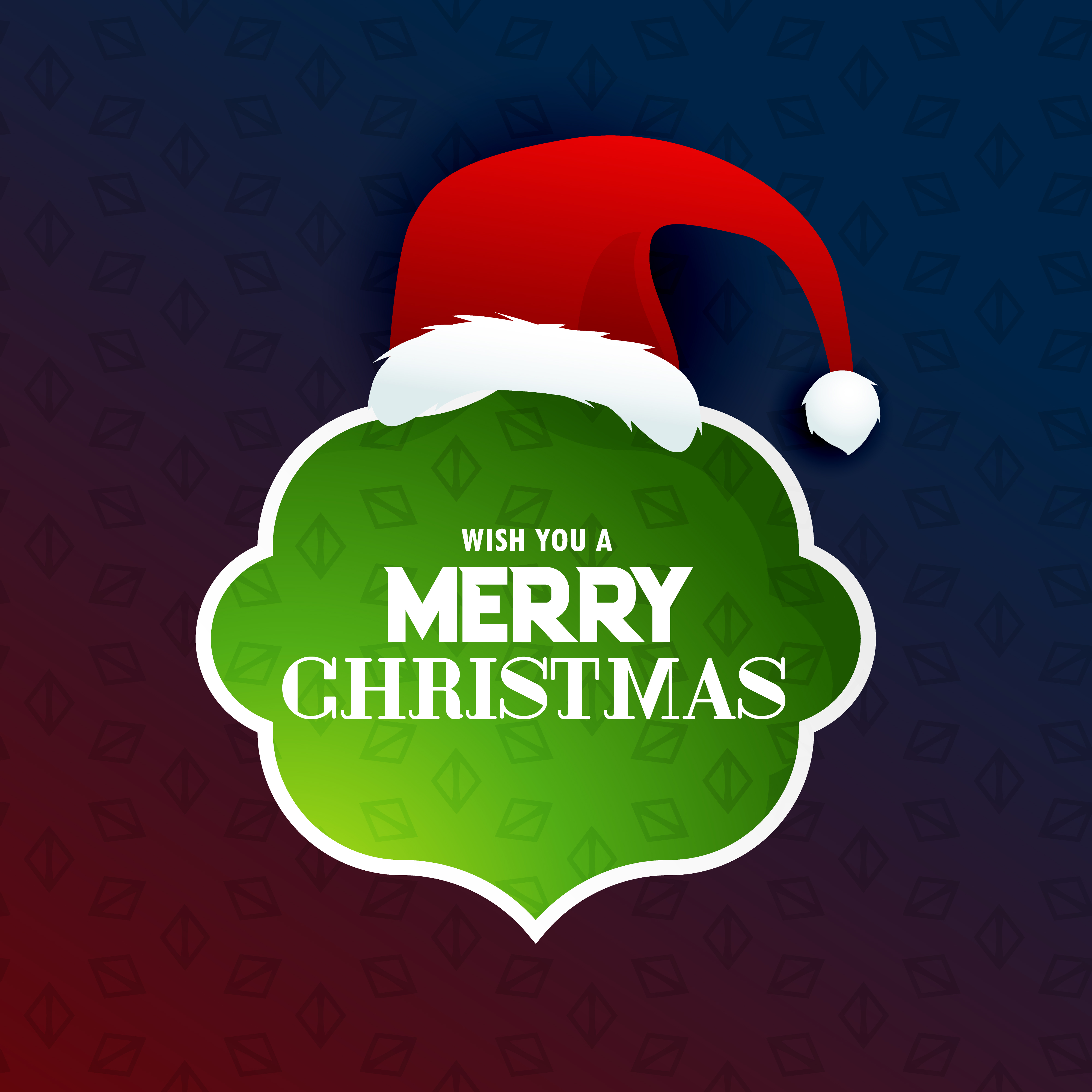 merry christmas text frame with santa claus design - Download Free ...