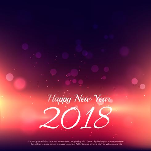happy new year 2018 background with glowing lights