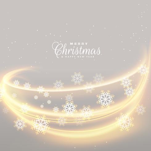 ehrfürchtige Weihnachtslichter mit Schneeflockenhintergrund