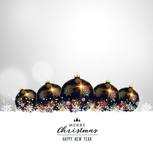 premium christmas balls on white background design