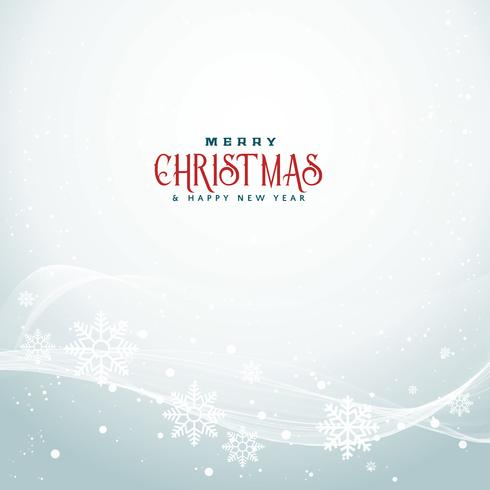 beautiful christmas season background with wavy flowing  snowfla