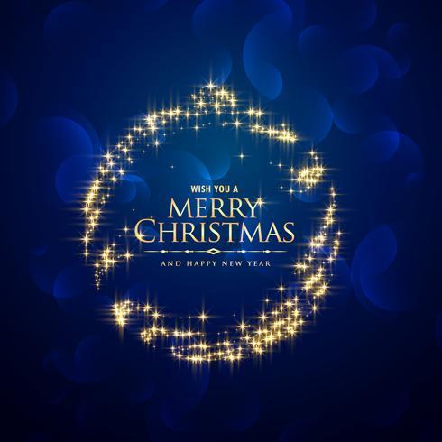 kreativer Funkelnschein-Weihnachtskugel-Blauhintergrund