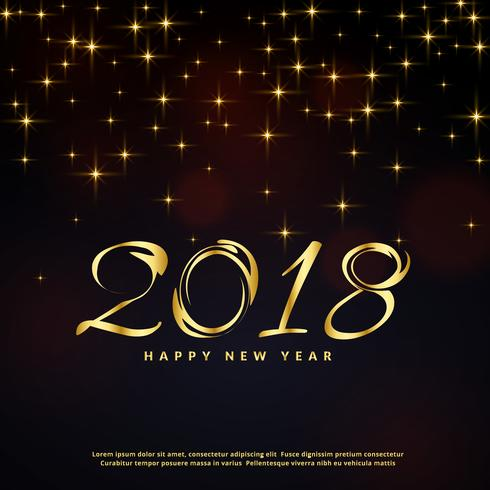 festival glitter background for happy new year 2018 greeting