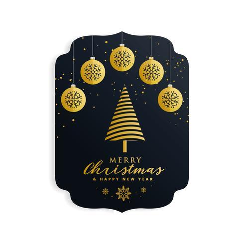 merry christmas festival design in golden premium style